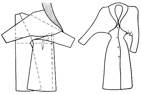 Послеобеденное пальто-кимоно с