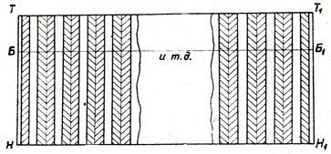 Юбка с односторонними круговыми складками