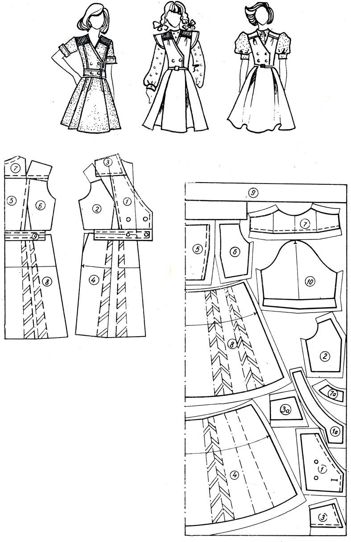 Выкройка прямого платья рукав летучая мышь