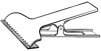 Рис. 172. Зажим для скрепления тканей в настиле