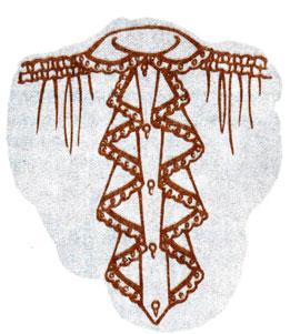 Рис. 141. Притачивание кокилье в два ряда с планкой
